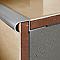 Profilé nez de marche ovale aluminium brut 11 mm