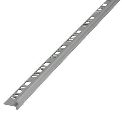 profil nez de marche semi rond aluminium mat 10 mm castorama. Black Bedroom Furniture Sets. Home Design Ideas