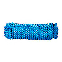 Corde torsadée en polypropylène bleue DIALL ø12 mm, 20 m