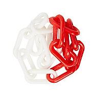 Chaîne de signalisation rouge et blanche ø8 mm, 10 m