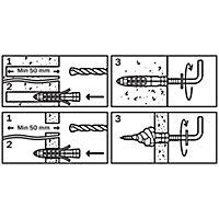 2 chevilles universelles Diall nylon CL HL Ø8x40mm