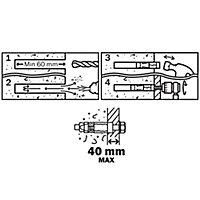 Cheville Diall métal traversant 10x100mm