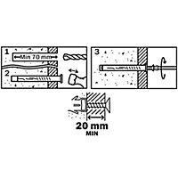 6 chevilles d'expansion Diall nylon pour cadres CSTX 10x80mm
