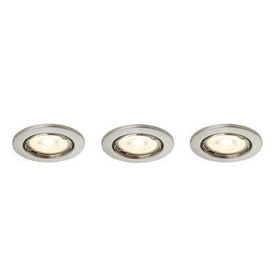 3 spots LED à encastrer chromé 5,3W