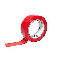 Ruban d'isolation électrique 19mm x 10m rouge