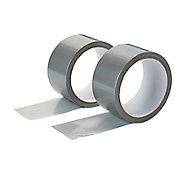 Toile de réparation grise, 50mm x 10m - 2 rouleaux
