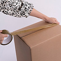 Adhésif d'emballage marron 50mm x 50m - 2 pièces