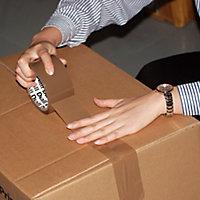 Adhésif d'emballage marron facile à déchirer, 50mm x 50m