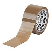 Adhésif d'emballage marron, 50mm x 50m + dévidoir