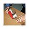 Bande d'emballage marron 50mm x 50m + dévidoir