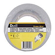 Ruban adhésif Aluminium Diall, 50 m x 75 mm
