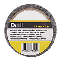 Adhésif antidérapant Diall noir, 2 m x 25mm