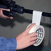 Bande de réparation PVC blanche, 50mm x 25m