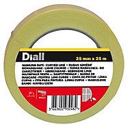 Ruban de masquage lignes courbes Diall 25 m x 25mm - 1 rouleau