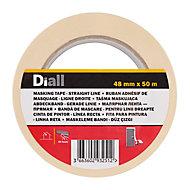 Ruban de masquage lignes droites Diall 50 m x 48 mm - 1 rouleau
