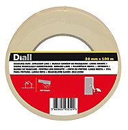 Ruban de masquage lignes droites Diall 100 m x 24 mm - 1 rouleau