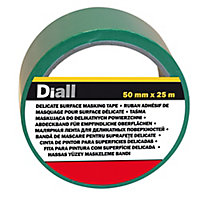 Ruban de masquage surfaces délicates Diall 25 m x 50 mm - 1 rouleau