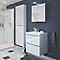 Meuble sous vasque à suspendre blanc brillant COOKE & LEWIS Imandra 60 cm