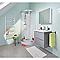 Meuble sous vasque à suspendre gris brillant COOKE & LEWIS Imandra 60 cm