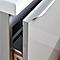 Meuble sous vasque à suspendre taupe brillant Cooke & Lewis Imandra 60 cm