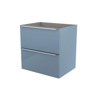 Meuble sous vasque à suspendre bleu brillant COOKE & LEWIS Imandra 60 cm