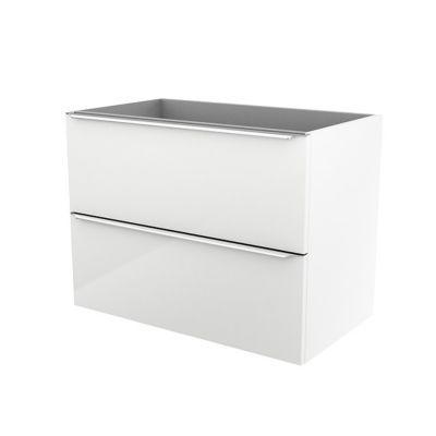 Meuble sous vasque à suspendre blanc brillant COOKE & LEWIS Imandra 80 cm