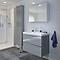 Meuble sous vasque à suspendre gris brillant Cooke & Lewis Imandra 80 cm