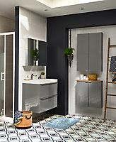 Armoire de salle de bains GoodHome Imandra miroir L.80 x H.60 x P.15 cm