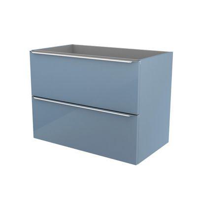 Meuble sous vasque à suspendre bleu brillant COOKE & LEWIS Imandra 80 cm