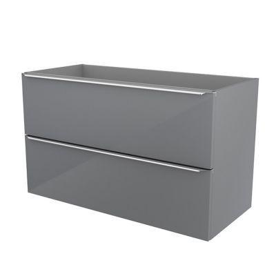 Meuble sous vasque à suspendre gris brillant COOKE & LEWIS Imandra 100 cm