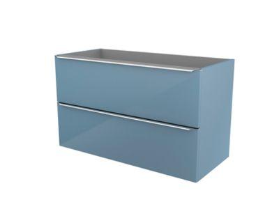 Meuble sous vasque à suspendre bleu brillant COOKE & LEWIS Imandra 100 cm
