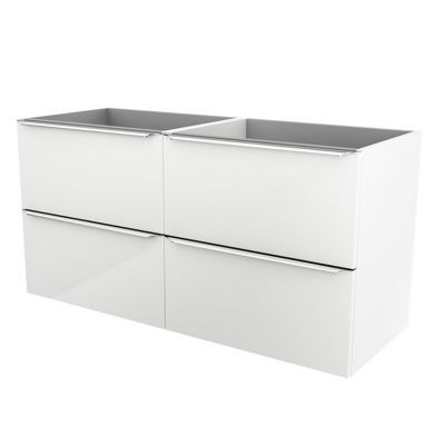Meuble sous vasque à suspendre blanc brillant COOKE & LEWIS Imandra 120 cm