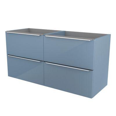 Meuble sous vasque à suspendre bleu brillant COOKE & LEWIS Imandra 120 cm