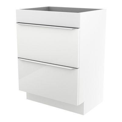 Meuble sous vasque à poser blanc brillant COOKE & LEWIS Imandra 60 cm