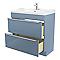 Meuble sous vasque à poser bleu brillant COOKE & LEWIS Imandra 80 cm