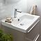 Plan vasque blanc GoodHome Lana 80 cm