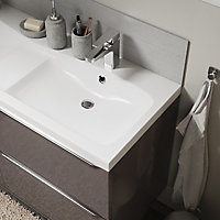 Plan vasque blanc GoodHome Mila 120 cm