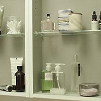 Armoire de salle de bains GoodHome Imandra gris taupé L.60 x H.60 x P.15 cm