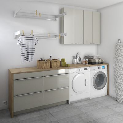 Armoire de salle de bains taupe cooke lewis imandra 60 - Armoire salle de bain castorama ...