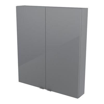 Armoire de salle de bains gris COOKE & LEWIS Imandra 80 cm