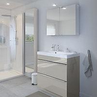 Armoire de salle de bains GoodHome Imandra miroir L.40 x H.90 x P.15 cm
