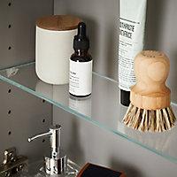 Armoire de salle de bains GoodHome Imandra miroir L.80 x H.90 x P.15 cm