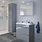 Armoire de salle de bains GoodHome Imandra gris L.40 x H.90 x P.36 cm