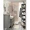 Étagère d'angle salle de bains gris Imandra 34 x 90 x 36 cm