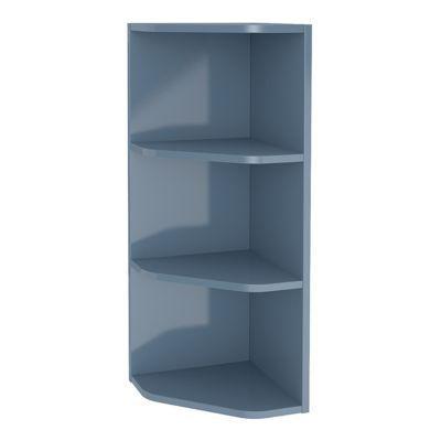Étagère d'angle salle de bains bleu Imandra 34 x 90 x 36 cm