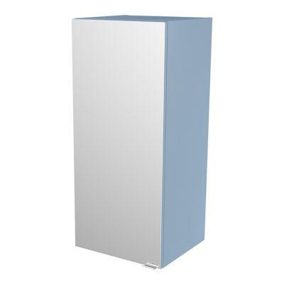 Armoire salle de bains bleu miroir Imandra 40 x 90 x 36 cm