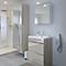 Armoire salle de bains taupe miroir Imandra 60 x 90 x 36 cm