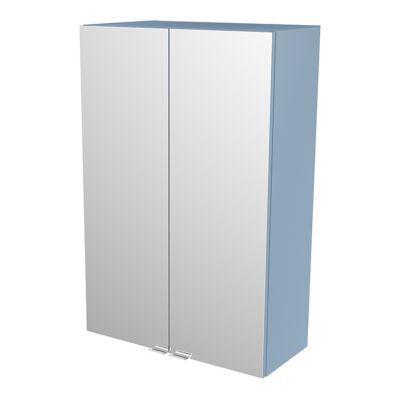 Armoire salle de bains bleu miroir Imandra 60 x 90 x 36 cm