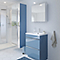 Armoire de salle de bains GoodHome Imandra bleu miroir L.60 x H.90 x P.36 cm