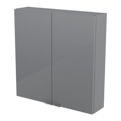 Armoire salle de bains gris Imandra 60 x 60 x 15 cm